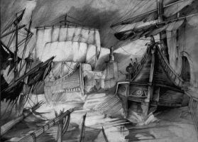 Ships by Quitche