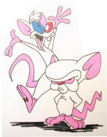Pinky and the Brain by mcjjsurber
