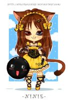 Commission-Chibi Ninie by SpectralFairy