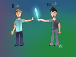 Pewds and BDouble0 by WolfAdopt5