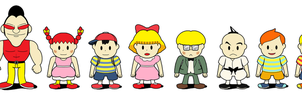 Mother Earthbound series main characters by tebited15