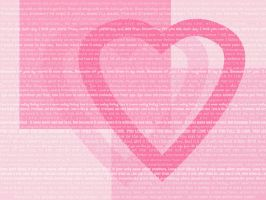 Love Hearts Quotes Wallpaper by pandoraice