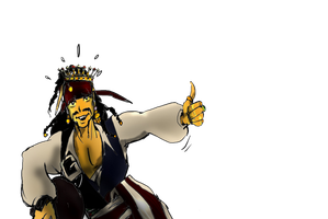Jack Sparrow with stolen Diadem png by KomyFly