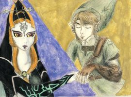 Midna and Link - Don't let go by HikariMichi