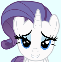 Rarity biting her lip by punchingshark