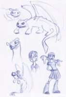 HTTYD Sketchbook Montage by kuabci