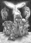 Equidae's curse poster sketch up by RouletteObsidian