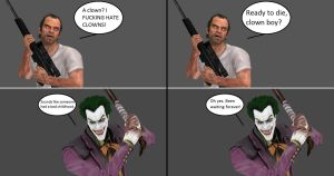 Injustice: Trevor Phillips vs The Joker by xXTrettaXx