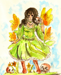 Persephone doodle by Rosiana