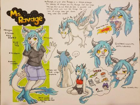 Ms.Ravage reference sheet  by raquelravage