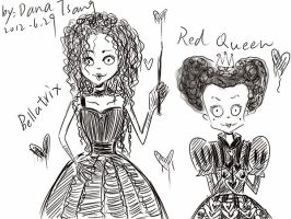 Bellatrix and Red Queen by DanaZeng