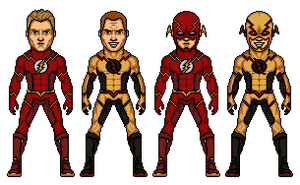 The Flash/ The Reverse Flash Redesign by Melciah1791