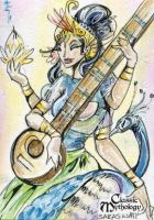 Saraswati Sketch Card - Sara Richard by Pernastudios