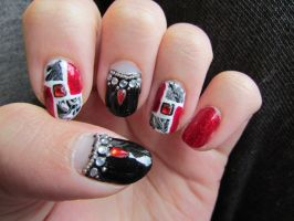 Classy(ish) Red Nails by QueenAliceOfAwesome