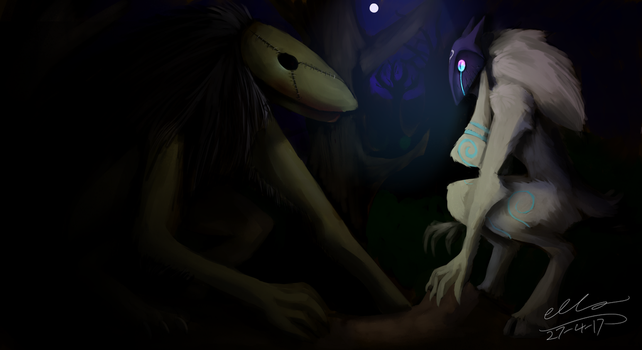 Lamb and Seedeater by Ellzilla