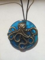 Octopus Pendant Necklace by TheOneTrueSirCharles