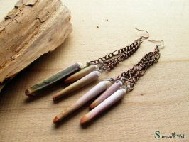 Sea urchin spines earrings by SuvetarsWell