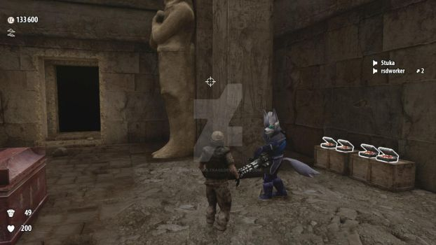EDF soldier encounters Wolf by s0undw4v3ultra02