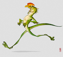 Running dilophosaurus by CamaraSketch