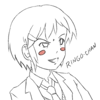 Scheming-faced Ringo-chan Sketch by psybustermk2