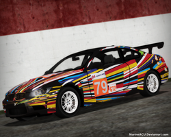 LMGT2 Jeff Koons BMW M3 GT2 Livery (2010) by MarineACU