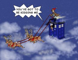 on a one horse open tardis by coppy-cat