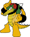 Vector recolored as Bowser by elfofcourage