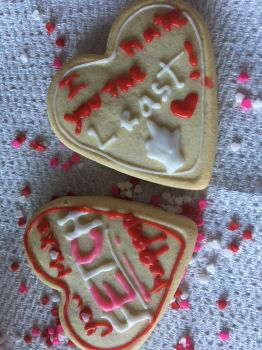 Lit Valentines Day Cookies by SleepingWith--Snow