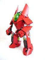 WIP red mecha by QuQuS