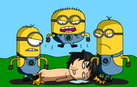 Tomoki vs. Minions by AfroOtaku917