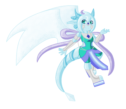 Knight The Ice Dragon by starcloudnebula