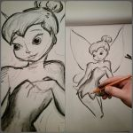 Tinkerbell sketch | charcoal 18X24 by jmnettlesjr