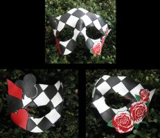 Queen of Hearts Mask by MummersCat