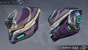 Halo 4: Deadeye helmet by profchaos354