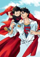 [DC]Superman and Superboy by huer13