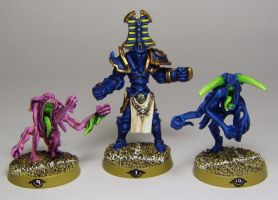 BLOODBOWL Tzeentch's Chaos players by FraterSINISTER