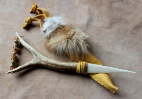 Elksong Ritual Knife by lupagreenwolf