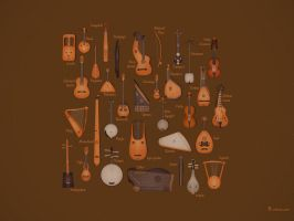 String Musical Instruments by vladstudio