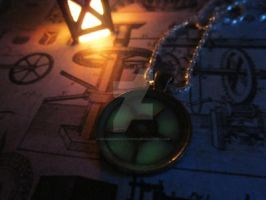 Glow in the Dark Steampunk Gear Pendant by MammaShaClothing