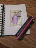 Courage the Cowardly Dog by PartlyArtly