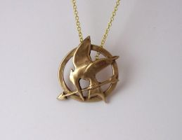 Hunger Games Open Mockingjay Pendant by Peaceofshine