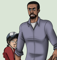 The Walking Dead - Clem and Lee by Gigglejigglepuff