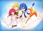Magi- Aladdin Alibaba and Morgiana by JuviaLockser17