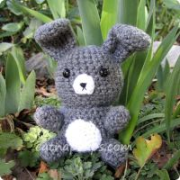Gray Rabbit Amigurumi by CatNapCaps