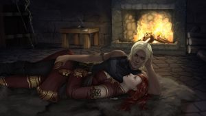 [Commission] Cozy Fireplace by ZliDe
