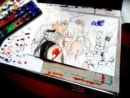 Natsu and Lucy work in progress 2 by Salvo91