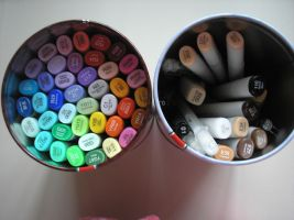 my copic collection. by CottonCandy33