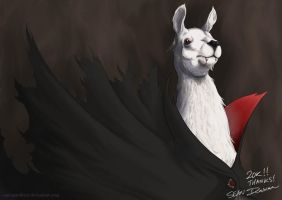 Vampire Llama for 20K! by SeanDonnanArt