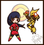 Chibi Gym Leaders - Natsume by Frog-of-Rock