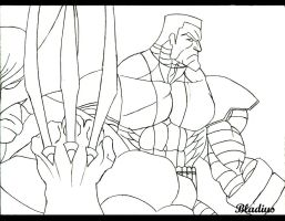 Wolverine and Colossus by Bladius021